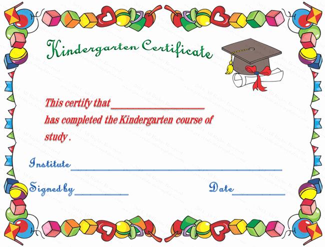 Free Preschool Graduation Program Template Lovely 7 Best Of Printable Kindergarten Diploma Template