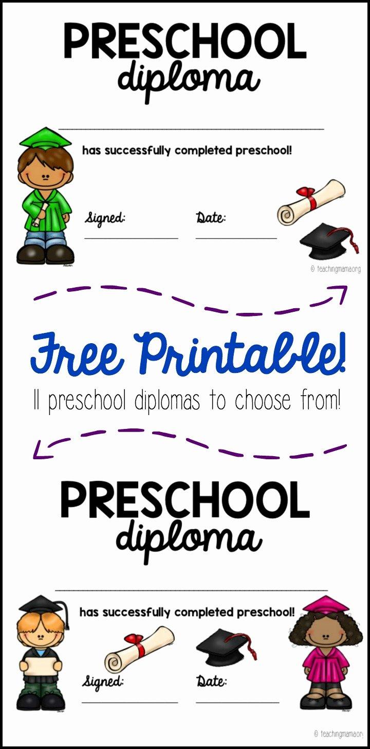 Free Preschool Graduation Program Template Luxury Preschool Graduation Diploma