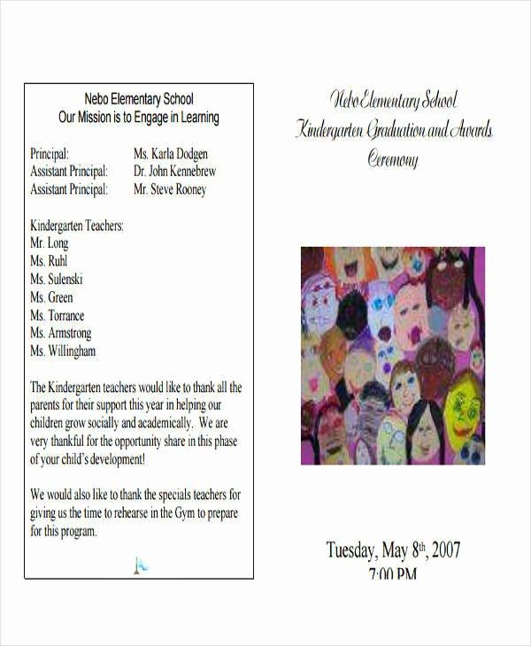 Free Preschool Graduation Program Template New 6 Sample Graduation Programs Pdf Word