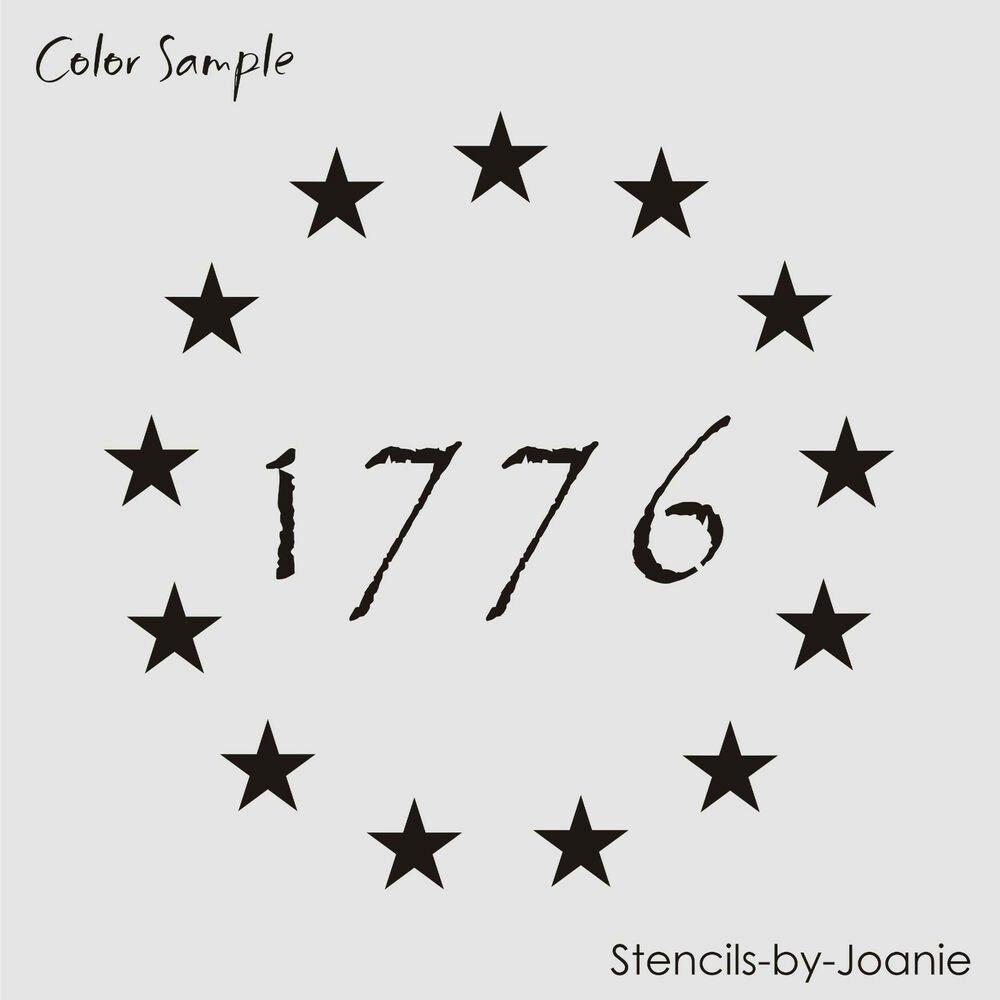 "Free Printable American Flag Star Stencil Awesome Americana Stencil 1"" Stars Patriotic Circle 1776 Primitive"