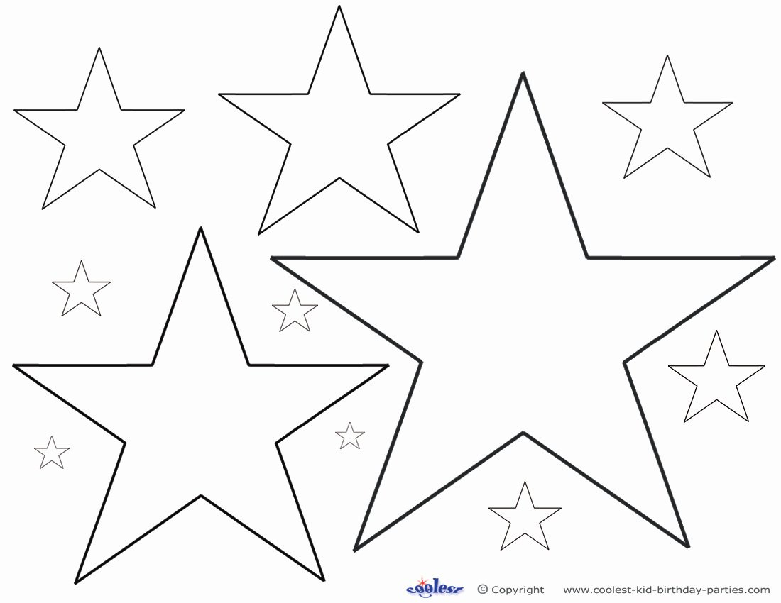 Free Printable American Flag Star Stencil Beautiful 6 Best Of Different Size Star Stencils Printable