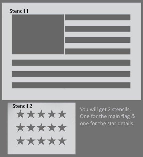 Free Printable American Flag Star Stencil Fresh American Flag Stencil Usa Flag Wall Art Star Spangles