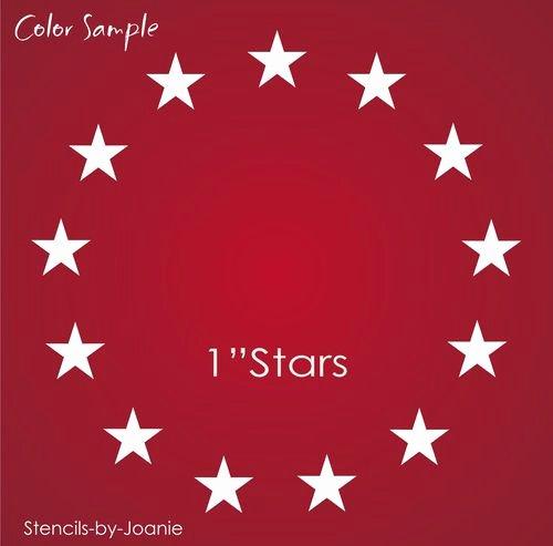 "Free Printable American Flag Star Stencil Lovely Americana Stencil 13 1"" Circle Stars Patriotic Betsy Ross"