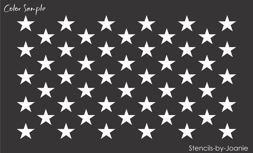 Free Printable American Flag Star Stencil Lovely Joanie Stencil 50 Stars Wide Flag Usa Patriotic American