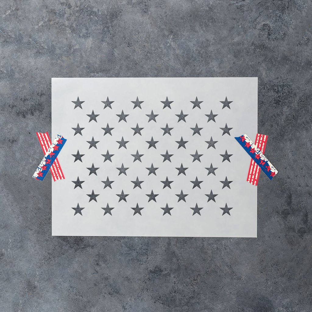 Free Printable American Flag Star Stencil New 50 Stars Stencil Template In Ficial U S Proportions On