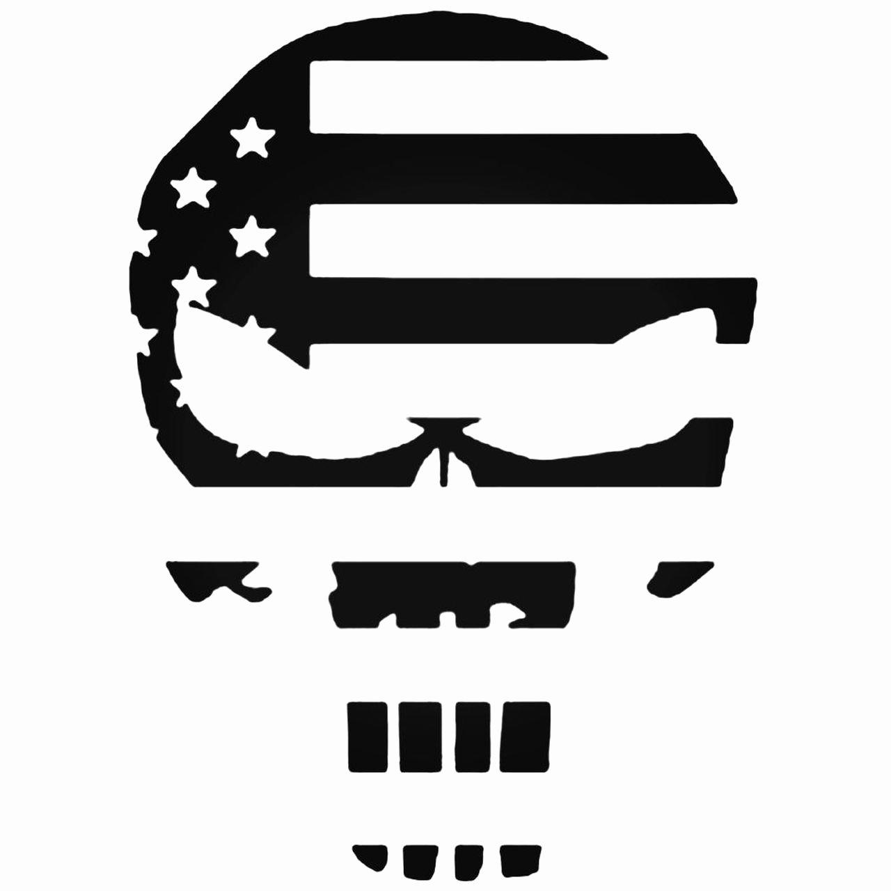 Free Printable American Flag Star Stencil New Chris Kyle American Flag Punisher Skull Decal Sticker