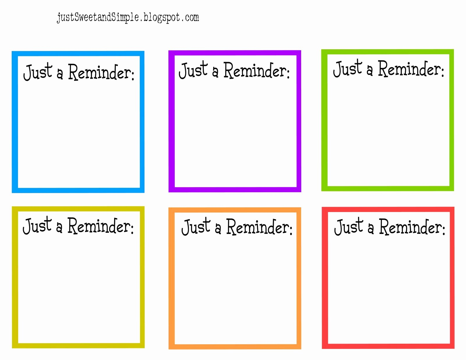 Free Printable Appointment Reminder Cards Awesome Just Sweet and Simple May 2011
