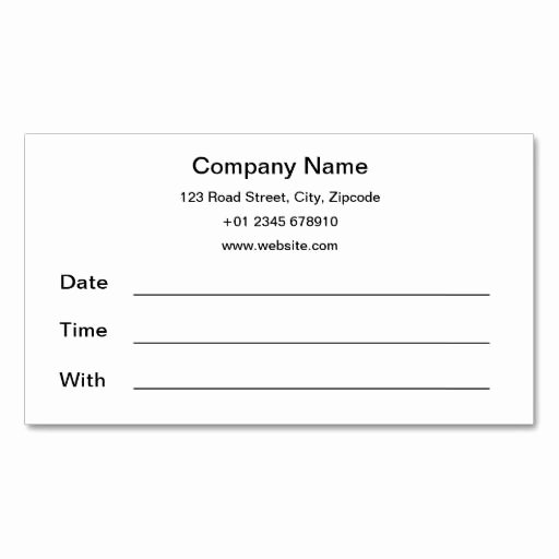 Free Printable Appointment Reminder Cards Inspirational Appointment Reminder Card Template Bing Images