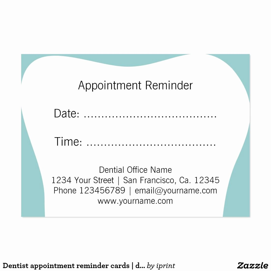 Free Printable Appointment Reminder Cards Inspirational Dentist Appointment Reminder Cards