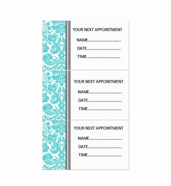 Free Printable Appointment Reminder Cards Lovely 40 Appointment Cards Templates & Appointment Reminders
