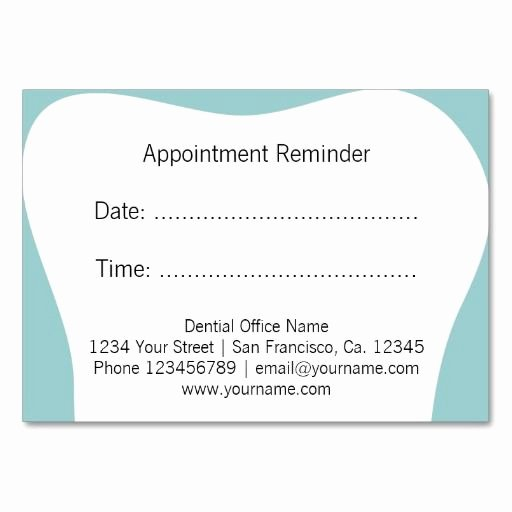 Free Printable Appointment Reminder Cards New 25 Best Ideas About Dentist Appointment On Pinterest