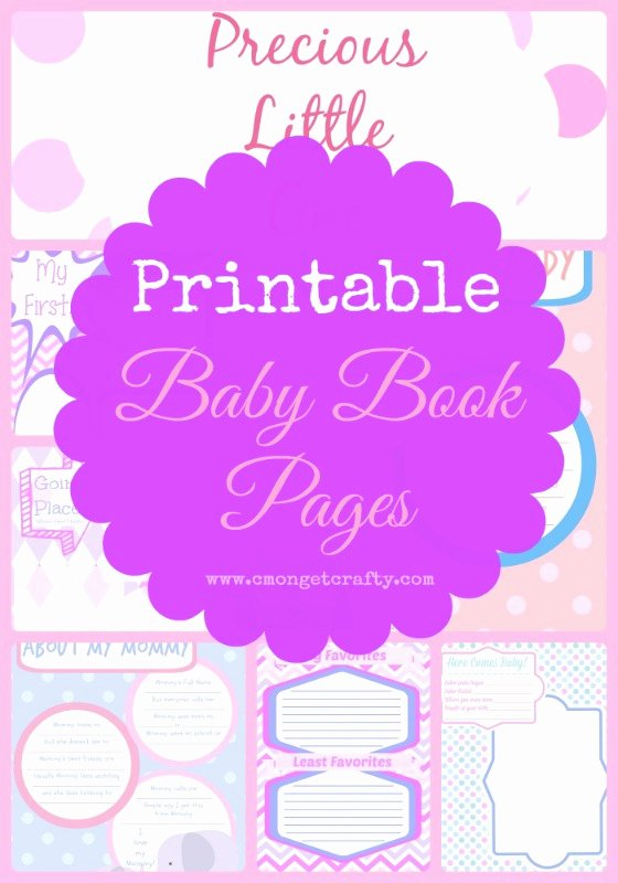 Free Printable Baby Book Pages Awesome Printable Baby Book Pages Girl