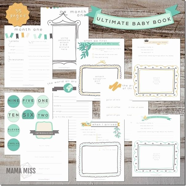 Free Printable Baby Book Pages Best Of 17 Best Ideas About Baby Book Pages On Pinterest