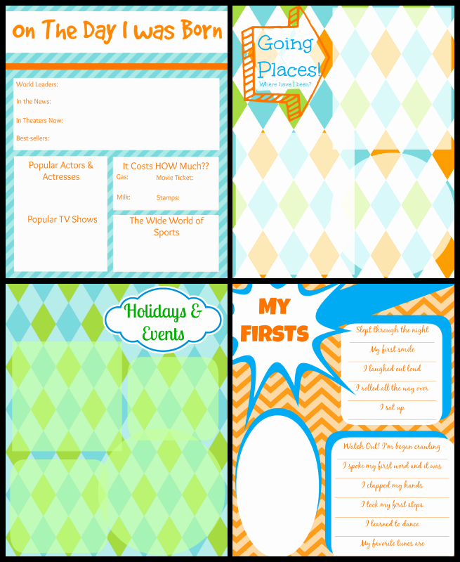 Free Printable Baby Book Pages Elegant Printable Baby Book Pages Free Download
