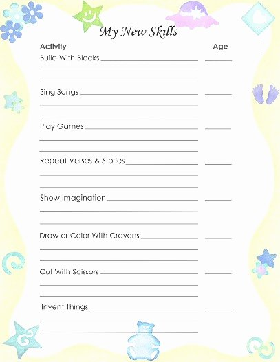 Free Printable Baby Book Pages Lovely Free Printable Baby Book Pages