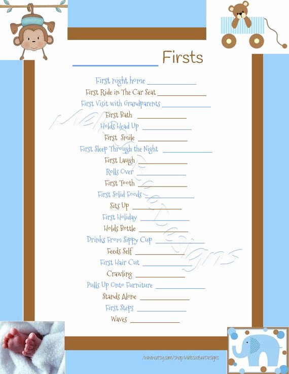 Free Printable Baby Book Pages Unique Instant Download Printable Scrapbook Baby S Firsts Page