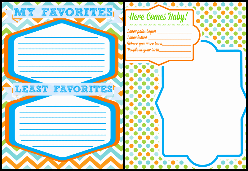 Free Printable Baby Book Pages Unique Printable Baby Book Pages Free Download