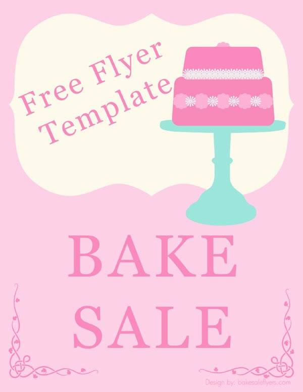 Free Printable Bake Sale Signs Beautiful Free Bake Sale Flyer Template