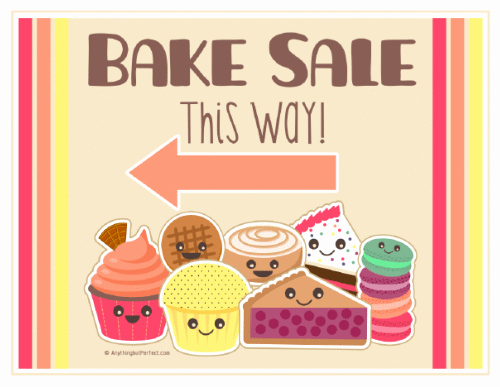 Free Printable Bake Sale Signs Inspirational Bake Sale Printable Labels Set