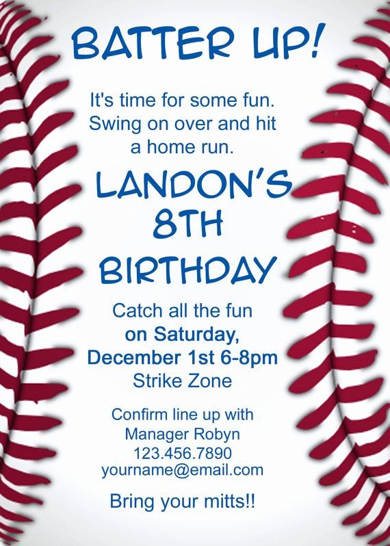 Free Printable Baseball Birthday Invitations Awesome Baseball Invitation I Like the Text On This One and