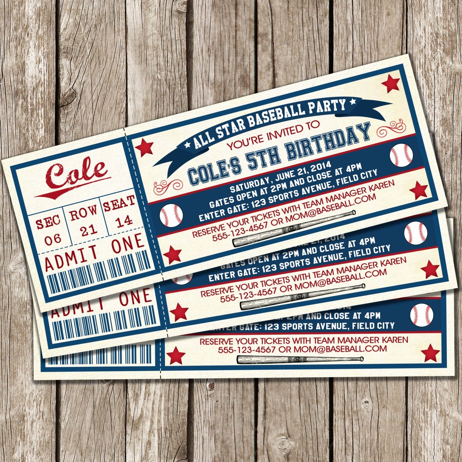 Free Printable Baseball Birthday Invitations Beautiful Vintage Baseball Ticket Invitation Baseball Birthday Party