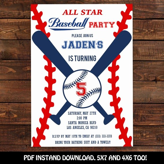 Free Printable Baseball Birthday Invitations Best Of Baseball Invitation Baseball Party Invitation Printable