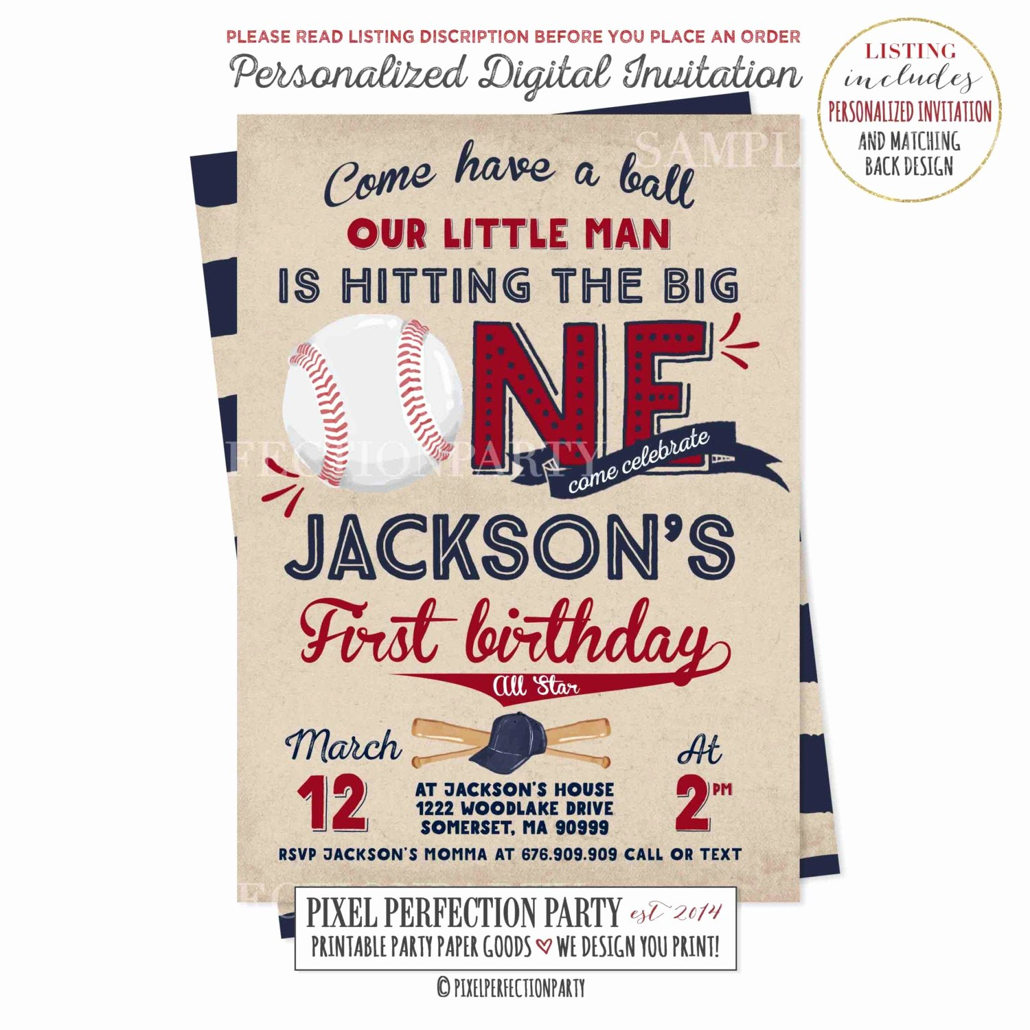 Free Printable Baseball Birthday Invitations Elegant Baseball Birthday Invitation Baseball Invitation Baseball