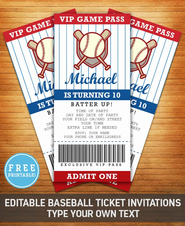 Free Printable Baseball Birthday Invitations Fresh Baseball Birthday Party Invitation Free Printable M Gulin