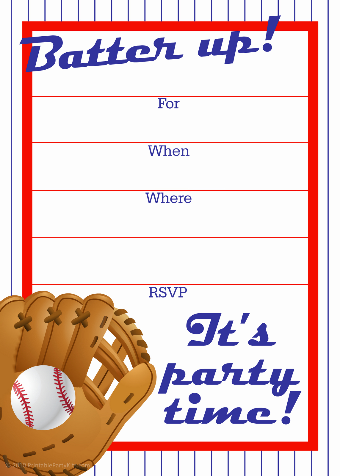 Free Printable Baseball Birthday Invitations Fresh Free Printable Party Invitations Free Baseball Birthday