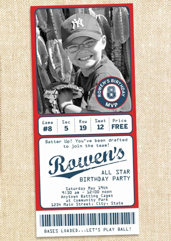 Free Printable Baseball Birthday Invitations Lovely Baseball Birthday Invitations Printable Diy by Polkaprints