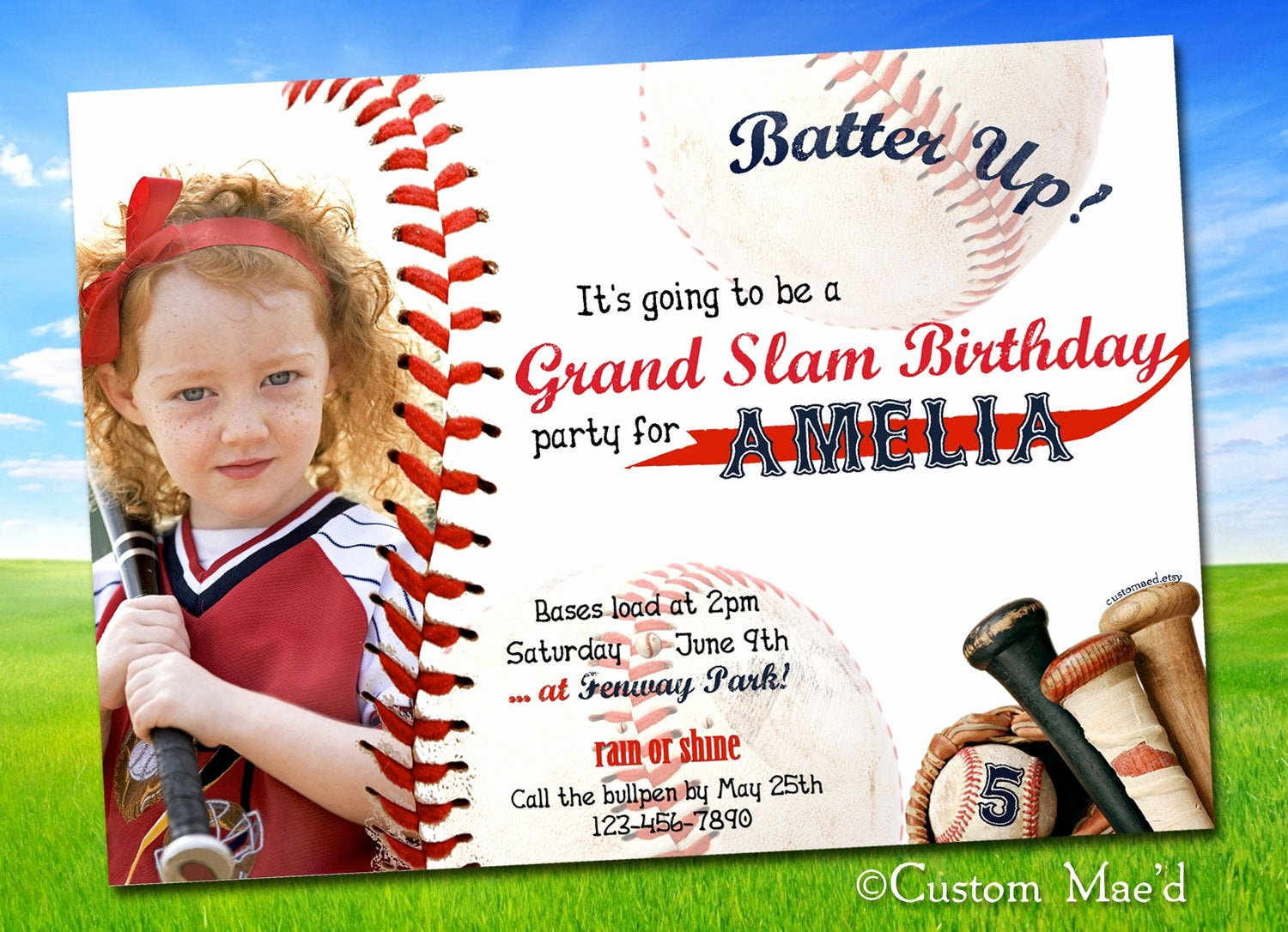 Free Printable Baseball Birthday Invitations Luxury Baseball Birthday Invitations Personalized Printable by