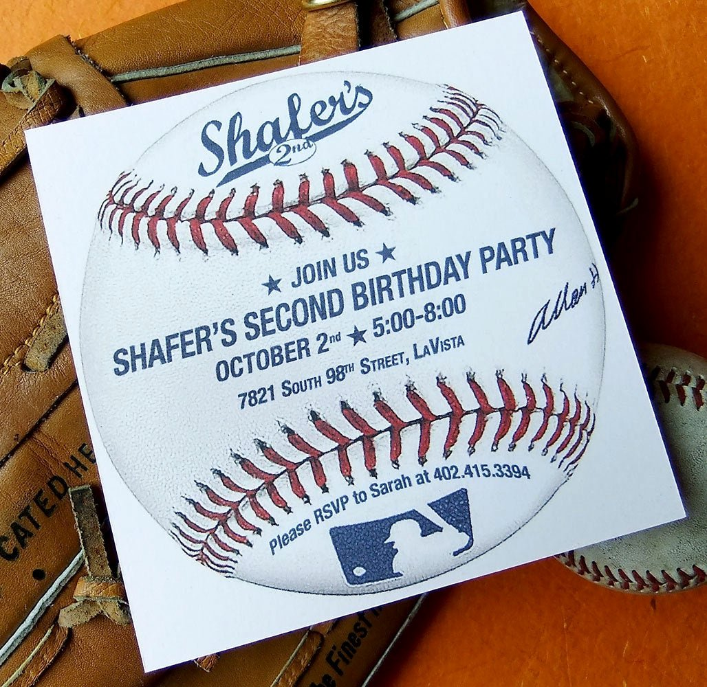 Free Printable Baseball Birthday Invitations Unique Baseball Birthday Invitation Custom Printable Invite Pdf