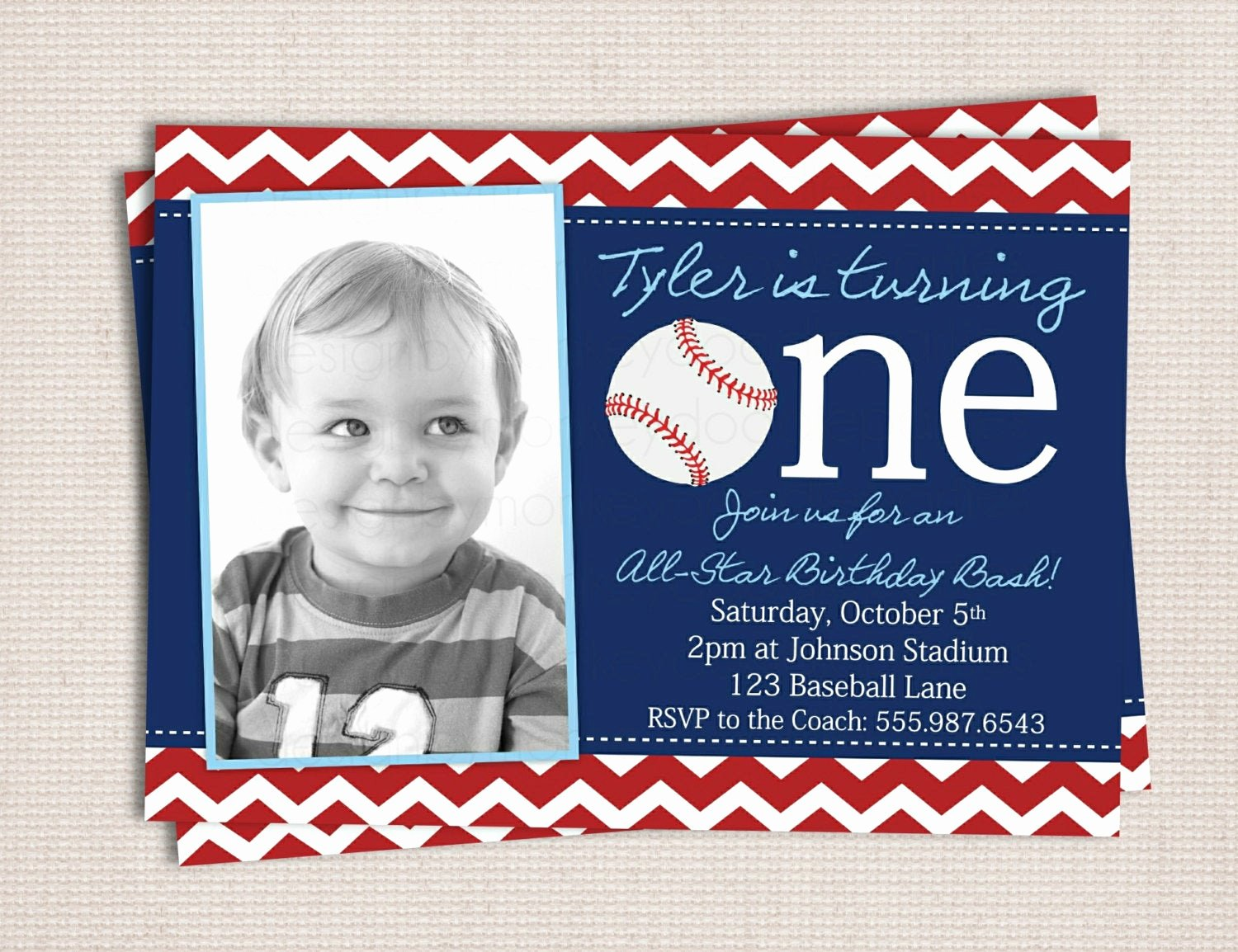 Free Printable Baseball Birthday Invitations Unique First Birthday Baseball Party Printable by Monkeydoodleparties