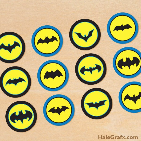Free Printable Batman Logo Fresh Free Printable Batman Cupcake toppers