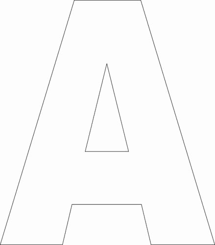 Free Printable Block Letters Awesome Free Printable Upper Case Alphabet Template