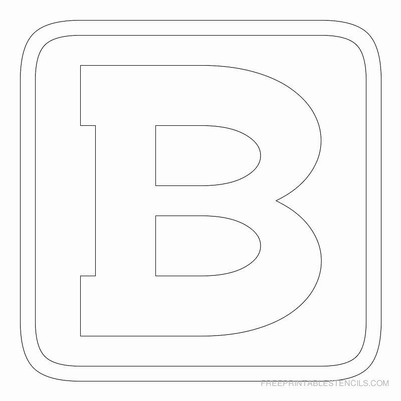 Free Printable Block Letters Lovely Printable Block Letter Stencils