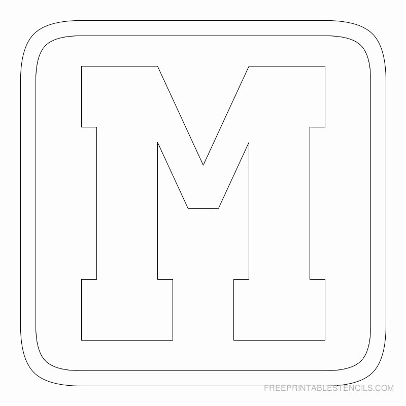 Free Printable Block Letters New Printable Block Letter Stencils
