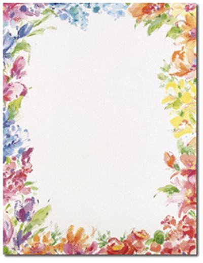 Free Printable Border Designs for Paper Beautiful 10 Flower Border Design Paper Flower Page Border