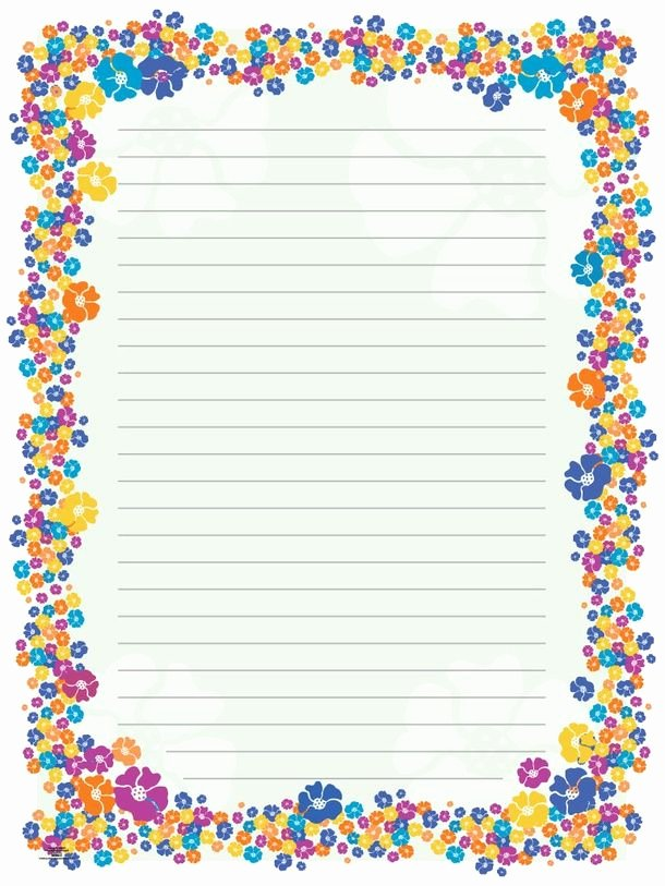 Free Printable Border Designs for Paper Beautiful Blank Paper Flowers
