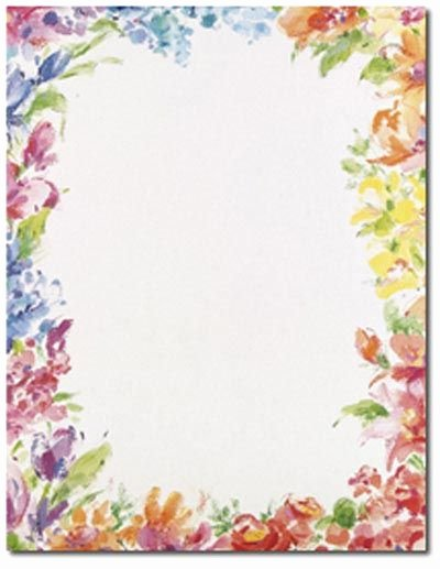 Free Printable Border Designs for Paper Beautiful Floral Border Paper Printables
