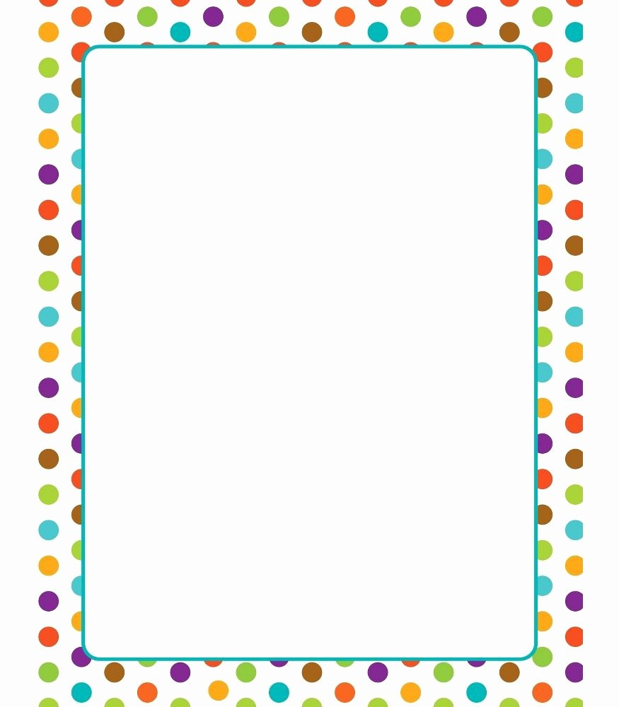 Free Printable Border Designs for Paper New School theme Border Reading