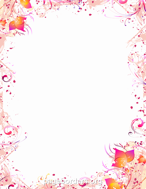 Free Printable Border Designs for Paper Unique Free Printable Flower Page Borders Clipart Collection