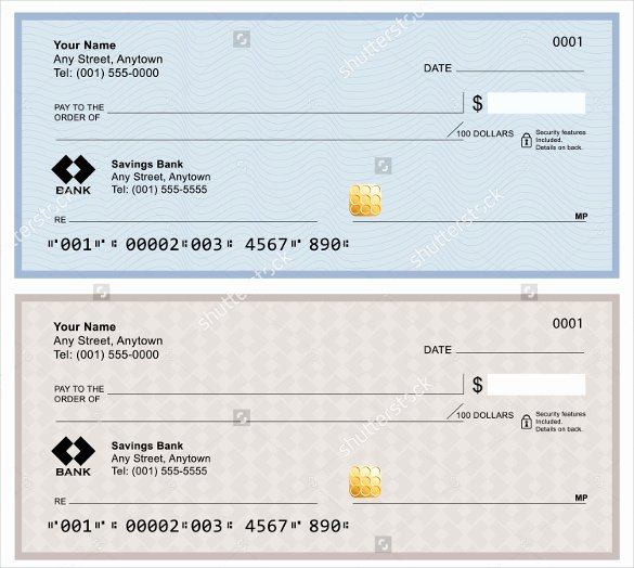 Free Printable Checks Template Best Of Blank Check Template – 30 Free Word Psd Pdf & Vector