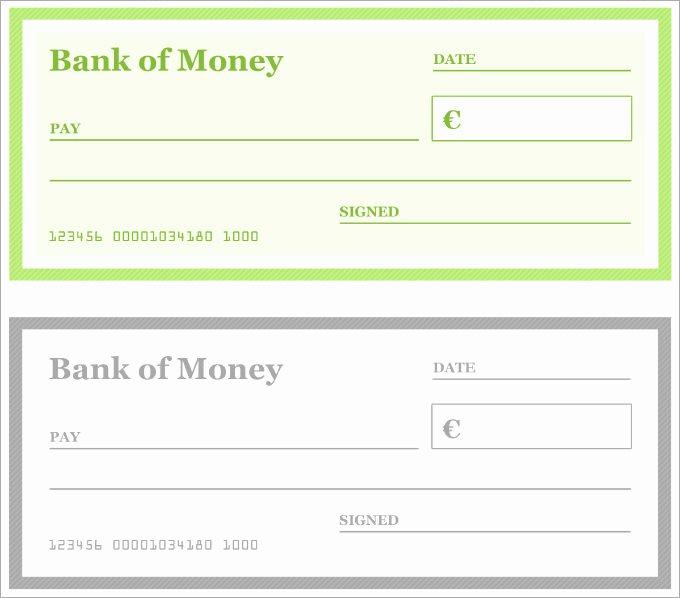 Free Printable Checks Template New Blank Checks Pdf