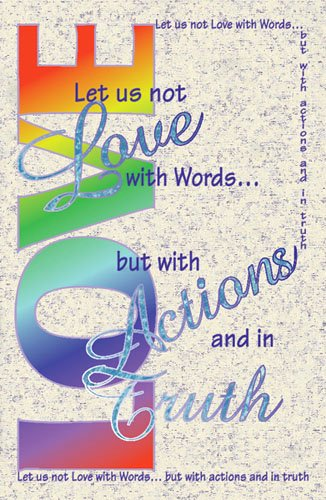 Free Printable Church Bulletin Covers Lovely Let Us Not Love with Words General Worship 11