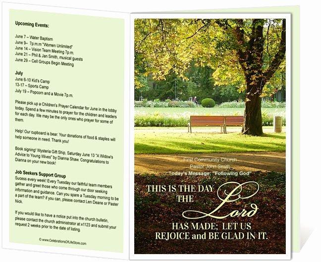 Free Printable Church Bulletin Covers New Church Bulletin Templates Park Church Bulletin Template