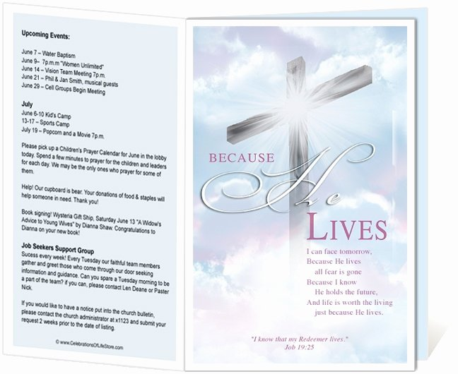 Free Printable Church Bulletin Covers Unique Church Bulletin Templates Cross Church Bulletin Template