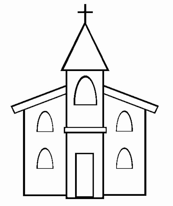 Free Printable Church Bulletin Templates Best Of Church Coloring Page