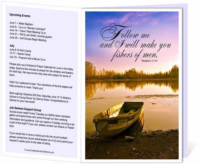Free Printable Church Bulletin Templates Fresh Church Bulletins Templates I Will Make You Fishers Of