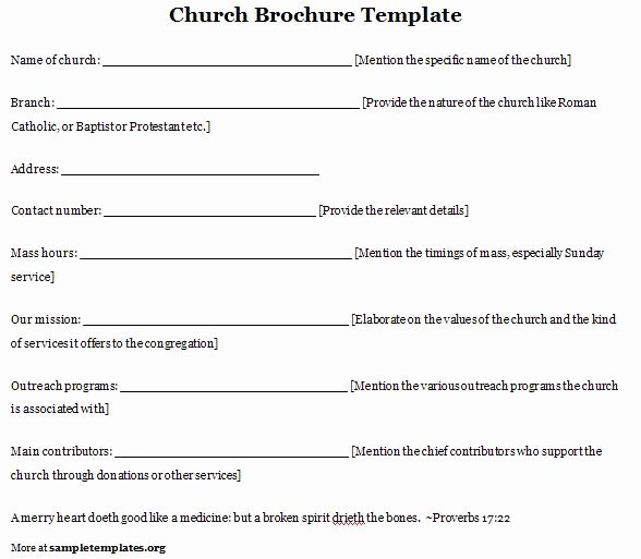 Free Printable Church Bulletin Templates Inspirational Church Program Template